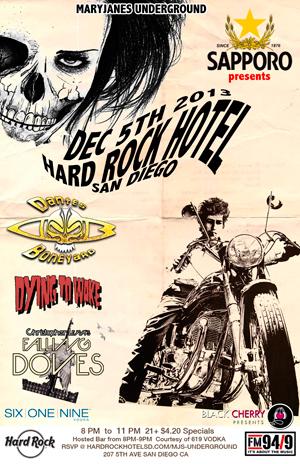 Leyva & The Falling Doves live at Hard Rock Hotel