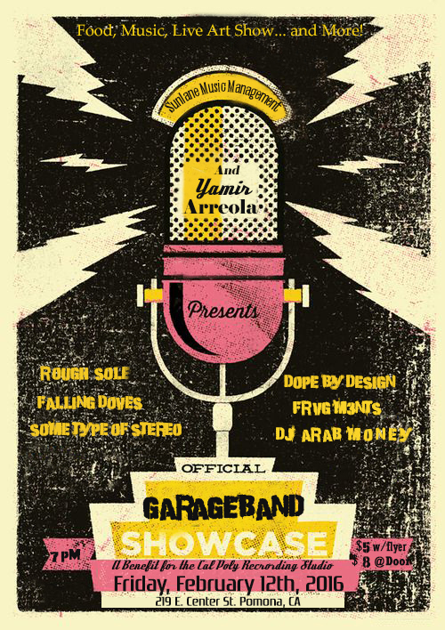 GarageBand Showcase Flyer official